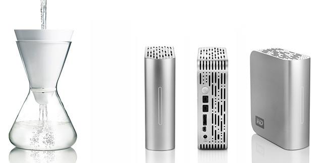 Soma water filter, Western Digital external hard drive
