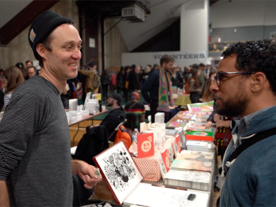 Anders Nilsen and Jonas Madden-Connor at Comic Arts Brooklyn fair